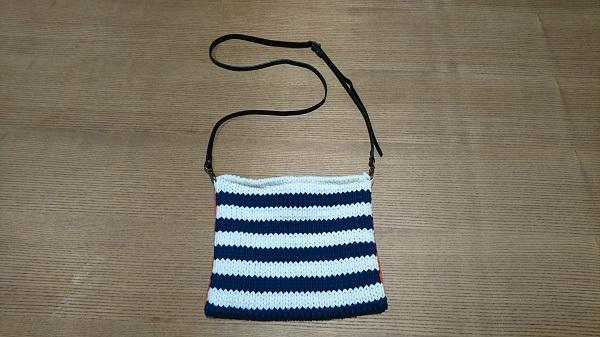 基本の天竺編みで作る 簡単ショルダーバック
