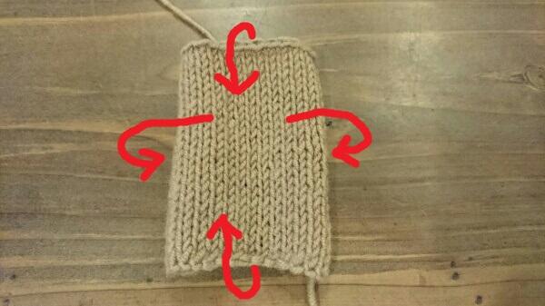 メリヤス編みの端は丸まります!!  改善策 編み方のご紹介